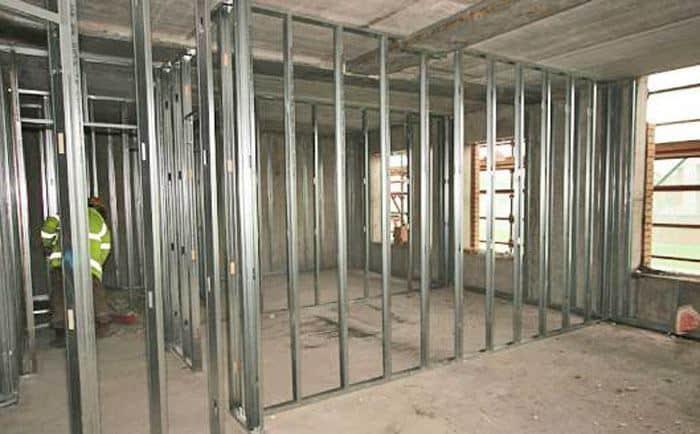 Steel Partition Installation